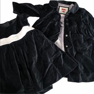 Gap Black Velvet Formal Dress and Jacket